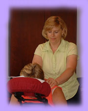chair/seated massage